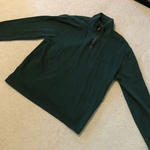 Green Polo Quarter-Zip Pullover
